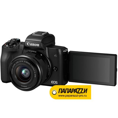Цифровой фотоаппарат Canon EOS M50 kit 15-45 IS STM Black-6