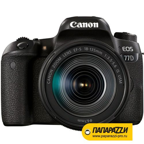 Зеркальный фотоаппарат Canon EOS 77D kit 18-135mm IS STM-0
