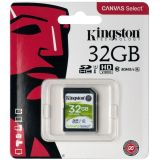 Карта памяти 32Gb Kingston Canvas Select SDHC UHS-I (80/10 Mb/s)